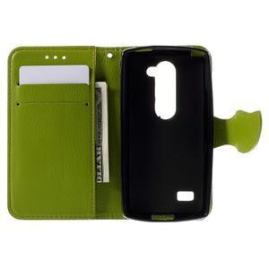 Leaf PU kožené pouzdro na mobil LG Leon - hnědé - 6