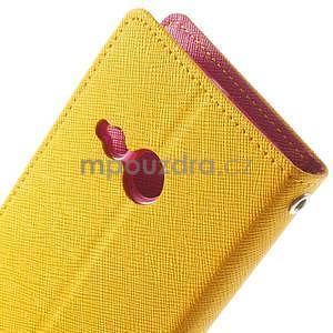 Style peněženkové pouzdro HTC One Mini 2 - žluté - 6