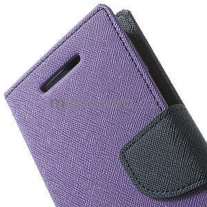 Style peněženkové pouzdro HTC One Mini 2 - fialové - 6