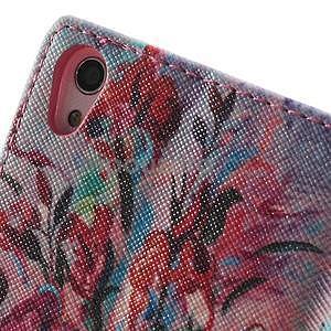Obrazové peněženkové pouzdro na Huawei Ascend P7 - kytice - 6