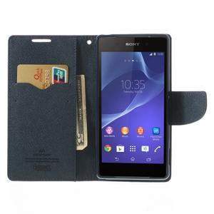 Fancy peněženkové pouzdro na Sony Xperia Z2 - fialové - 6