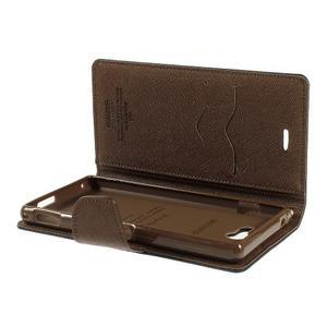Mr. Goos peněženkové pouzdro na Sony Xperia M2 - černé/hnědé - 6