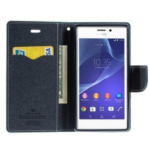 Mr. Goos peněženkové pouzdro na Sony Xperia M2 - azurové - 6