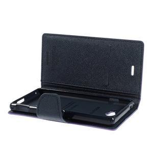 Mr. Goos peněženkové pouzdro na Sony Xperia M2 - fialové - 6