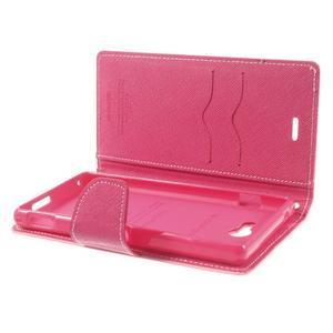 Mr. Goos peněženkové pouzdro na Sony Xperia M2 - růžové - 6