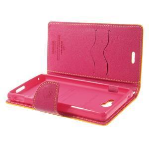 Mr. Goos peněženkové pouzdro na Sony Xperia M2 - žluté - 6