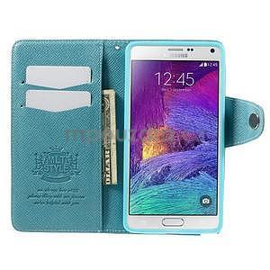 Zapínací peněženkové poudzro Samsung Galaxy Note 4 - světle modré - 6