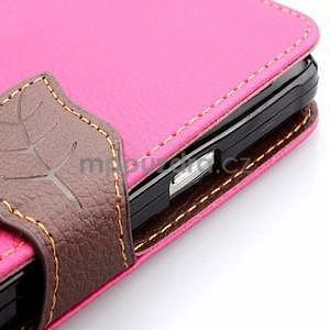 Peněženkové pouzdro s poutkem na Samsung Galaxy Note 4 - rose - 6