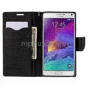 Stylové peněženkové pouzdro na Samsnug Galaxy Note 4 - černé - 6