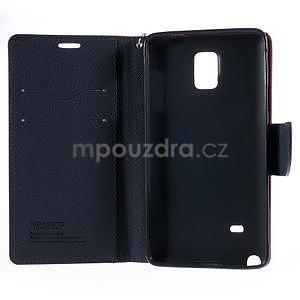 Stylové peněženkové pouzdro na Samsnug Galaxy Note 4 - červené - 6