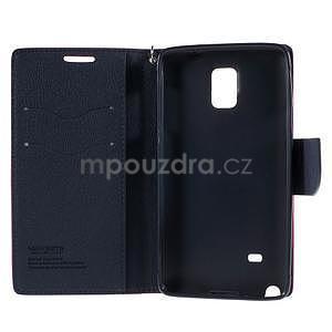 Stylové peněženkové pouzdro na Samsnug Galaxy Note 4 - rose - 6