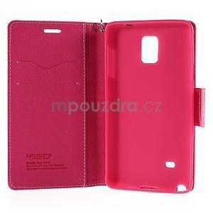 Stylové peněženkové pouzdro na Samsnug Galaxy Note 4 - růžové - 6