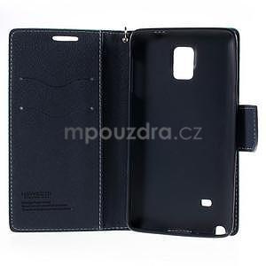 Stylové peněženkové pouzdro na Samsnug Galaxy Note 4 - azurové - 6