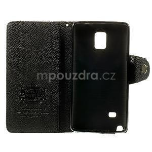 Zapínací peněženkové poudzro Samsung Galaxy Note 4 - černé - 6
