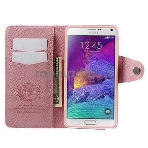 Zapínací peněženkové poudzro Samsung Galaxy Note 4 - růžové - 6