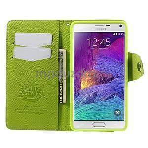Zapínací pěneženkové poudzro Samsung Galaxy Note 4 - zelené - 6