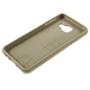 Odolný ochranný obal 2v1 na mobil Samsung Galaxy A3 (2016) - zlatý - 6