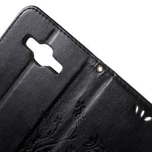 Butterfly PU kožené pouzdro na Samsung Galaxy Core Prime - černé - 6