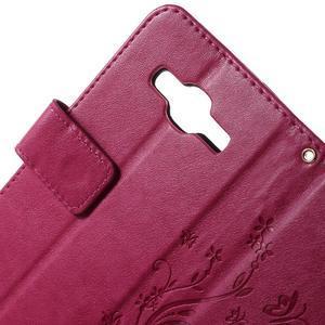 Butterfly PU kožené pouzdro na Samsung Galaxy Core Prime - rose - 6