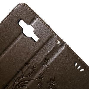 Butterfly PU kožené pouzdro na Samsung Galaxy Core Prime - hnědé - 6