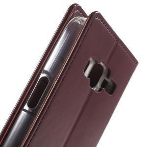 Moon PU kožené pouzdro na mobil Samsung Galaxy Core Prime - vínové - 6