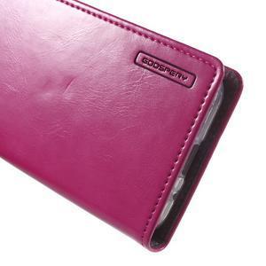 Moon PU kožené pouzdro na mobil Samsung Galaxy Core Prime - rose - 6