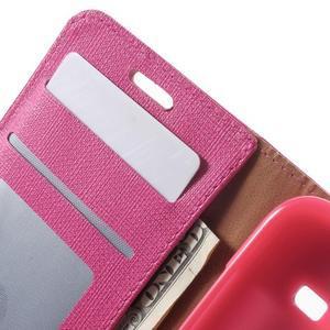 Clothy peněženkové pouzdro na Samsung Galaxy Core Prime - rose - 6