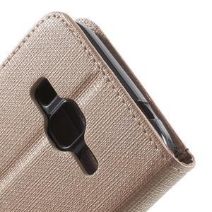 Clothy peněženkové pouzdro na Samsung Galaxy Core Prime - champagne - 6