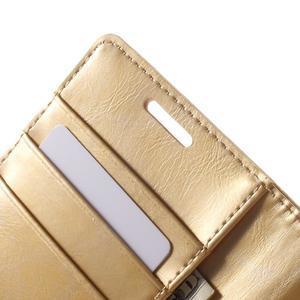 Moonleather PU kožené pouzdro na Samsung Galaxy Core Prime - zlaté - 6
