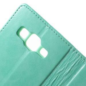 Moonleather PU kožené pouzdro na Samsung Galaxy Core Prime - azurové - 6