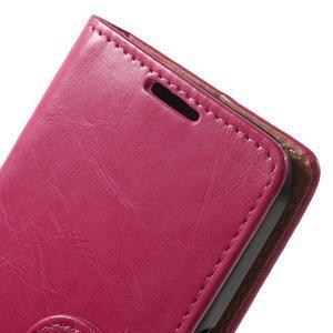 Horse PU kožené pouzdro na mobil Samsung Galaxy Core Prime - rose - 6