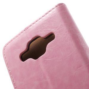 Horse PU kožené pouzdro na mobil Samsung Galaxy Core Prime - růžové - 6