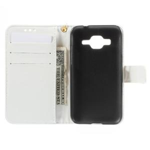 Croco peněženkové pouzdro na Samsung Galaxy Core Prime - bílé - 6