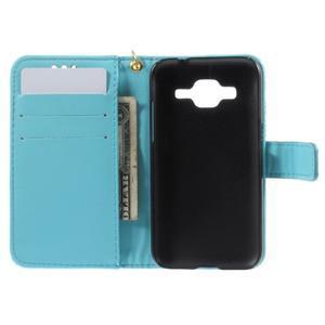 Croco peněženkové pouzdro na Samsung Galaxy Core Prime - modré - 6