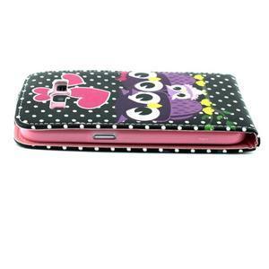 Flipové pouzdro na mobil Samsung Galaxy Core Prime - soví rodinka - 6
