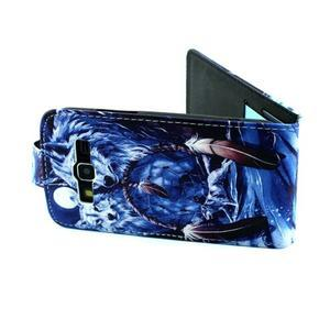 Flipové pouzdro na mobil Samsung Galaxy Core Prime - magičtí vlci - 6