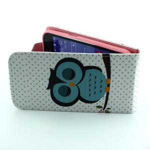 Flipové pouzdro na mobil Samsung Galaxy Core Prime - sova - 6