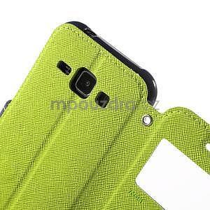 PU kožené pouzdro s okýnkem Samsung Galaxy J1 - zelené/tmavě modré - 6
