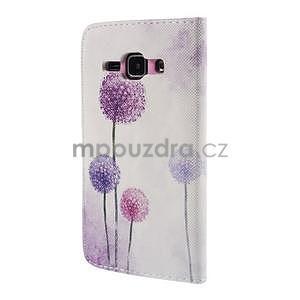 Zapínací pouzdro pro Samsung Galaxy J1 - fialová pampeliška - 6