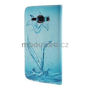 Zapínací pouzdro pro Samsung Galaxy J1 - vodní květina - 6