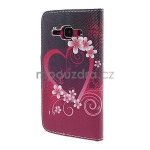 Zapínací pouzdro pro Samsung Galaxy J1 - květinové srdce - 6