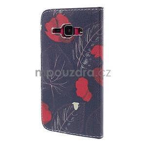 Zapínací pouzdro pro Samsung Galaxy J1 - červená květina - 6