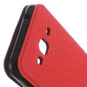 Roar PU kožené pouzdro s okýnkem na Samsung Galaxy J3 (2016) - červené - 6