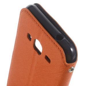 Roar PU kožené pouzdro s okýnkem na Samsung Galaxy J3 (2016) - oranžové - 6