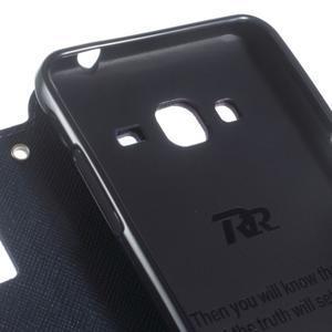 Roar PU kožené pouzdro s okýnkem na Samsung Galaxy J3 (2016) - fialové - 6