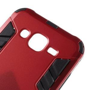 Odolný kryt 2v1 se stojánkem na Samsung Galaxy J5 - červený - 6