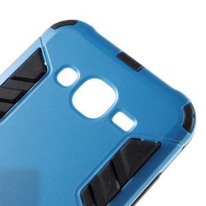 Odolný kryt 2v1 se stojánkem na Samsung Galaxy J5 - modrý - 6