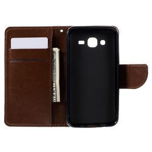 Peněženkové pouzdro na mobil Samsung Galaxy J5 - hnědé - 6