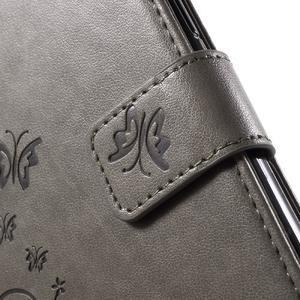 Butterfly PU kožené pouzdro na Samsung Galaxy J5 - šedé - 6