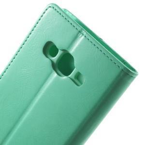 Mercury PU kožené pouzdro na mobil Samsung Galaxy J5 - azurové - 6